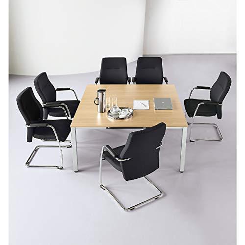 Konferenztisch, quadratisch - HxLxB 720 x 1400 x 1400 mm - Ahorn-Dekor