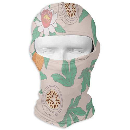 yunshenbuzhichu Passionsfrucht Kunst Vollgesichtsmaske Sturmhaube Halswärmer Kopfbedeckung Skimasken für Männer Frauen