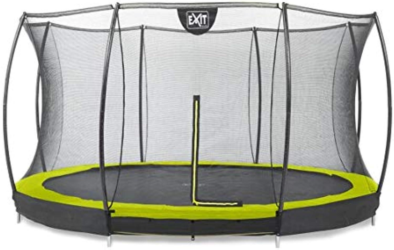 EXIT Silhouette Bodentrampolin 427cm mit Sicherheitsnetz - grün