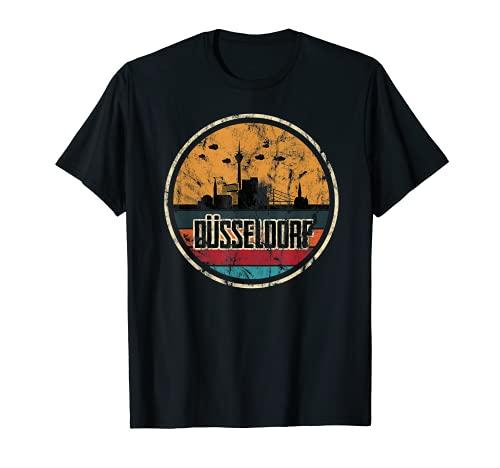Düsseldorf Skyline Design Silhoutte Düsseldorf T-Shirt