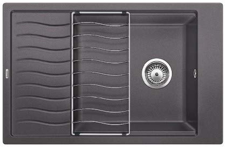 Weiß 518 746 ELON XL 6 S Küchenspüle S-518 felsgrau, grau