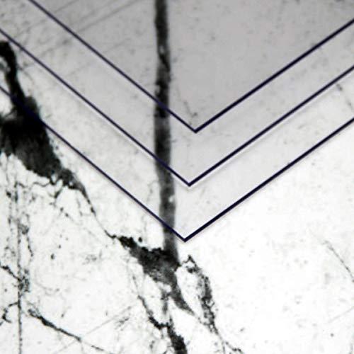 3 pezzi, A4 30x21cm - 1mm spesso Piastra Lastre in PC (policarbonato) incolori e infrangibili in varie dimensioni e quantità con pellicola protettiva su entrambi i lati
