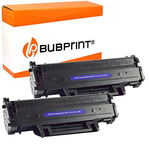 2 Bubprint Toner kompatibel für Samsung MLT-D101S für ML-2160 ML-2165 ML-2165W ML-2168 SCX-3400 SCX-3400F SCX-3405 SCX-3405F SCX-3405FW SCX-3405W SF-760P Schwarz