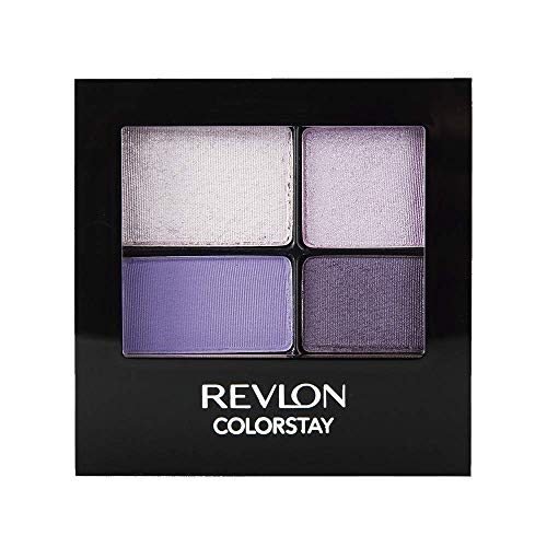 Revlon ColorStay 16 Hour Eyeshadow Quad with Dual-Ended Applicator Brush, Longwear, Intense Color Smooth Eye Makeup for Day & Night, Seductive (530), 0.16 oz