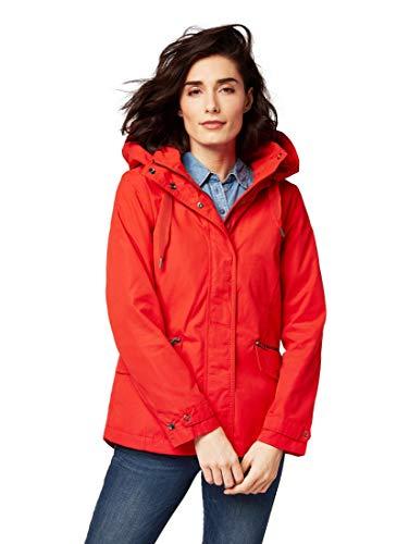 TOM TAILOR Damen 1007974 Jacke, Rot (Brilliant Red 12880), Large (Herstellergröße: L)