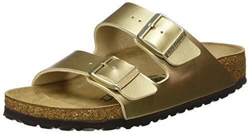 Birkenstock Arizona Birko-Flor Gold Sandalen voor dames