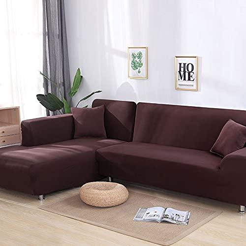 WXQY Funda de sofá de Paquete Ajustado Gris, Funda de sofá elástica Funda de sofá de Esquina Modular en Forma de L Funda de sofá A12 1 Plaza