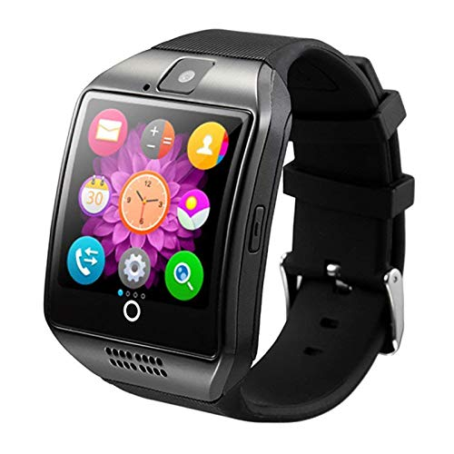 Smart Watch Bluetooth Wrist Watch Touch Screen Unlocked Watch Pedometer Sleep Monitor Fitness Tracker Compatible with Android Phones Samsung Galaxy S20 S10 S9 S8 A5 Note 9 10 Lg Men Women Boys Black