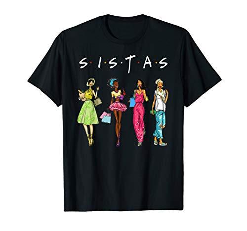 Black Sistas Queen Melanin African American Women Pride T-Shirt