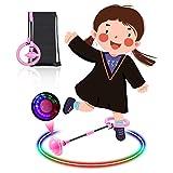 Diealles Shine Bola de Salto de Tobillo, LED Saltar Bola Plegable Anillo de Salto Intermitente Colorida Flash Bola de Salto Anillo de Salto de Tobillo Pelota de Baile para Niños (Rosado)
