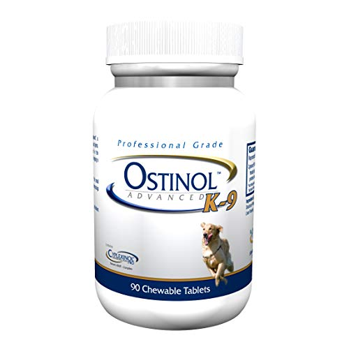 ZyCal Bioceuticals Ostinol(TM) Advanced K-9 Joint Health Supplement - with Cyplexinol® Bio-Active Protein Complex - 90 ct Treat Tablets