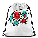 AOOEDM Taiko Sport Sackpack Sac à dos avec cordon de serrage Sac de sport