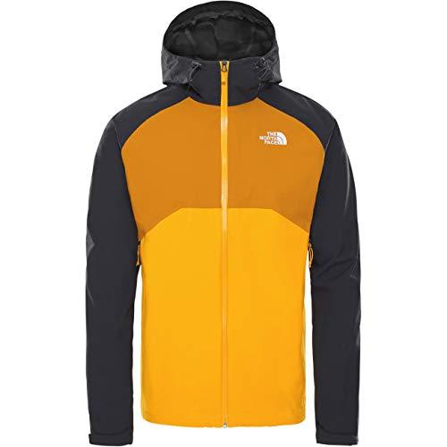 THE NORTH FACE M Stratos Jacket Colorblock-Gelb, Herren Regenjacke, Größe S - Farbe Summit Gold - TNF Black - Citrine Ye