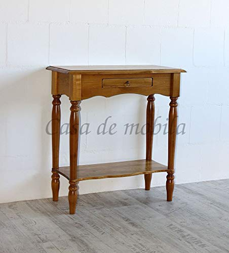 Casa Massivholz Pappel Konsolentisch honigfarben Wandtisch Telefontisch Guéridon