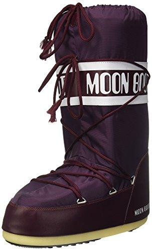 Unisex Volwassenen Moon Boot Nylon Outdoor Skiën Winter Sneeuw Regenlaarzen - Bourgondië - 45/47