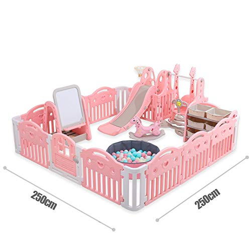 Best Bargain H-wlan Foldable Baby Playpen Activity Center Safety Playard with Lock Door,Kid's Fence ...