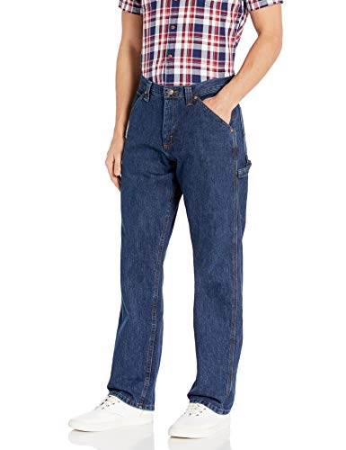 LEE Men's Dungarees Losse-Fit Carpenter Jean - 28W x 30L - Dark Indigo
