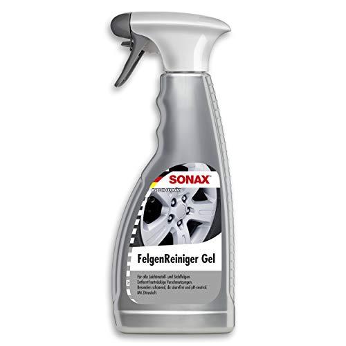 SONAX Felgenreiniger Gel (500 ml) säurefrei für Leichtmetall- & Stahlfelgen mit kraftvoller Gel-Formel, Entfernung von Bremsstaub, Ölrückständen & Straßenschmutz | Art-Nr. 04292000
