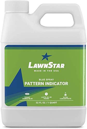 LawnStar Blue Spray Pattern Indicator Marker Dye - Premium, Professional Ultra Concentrated - Multipurpose, Highly Visible Formulation Prime for Marking Herbicides, Weed, Fertilizer, Turf (32 OZ)