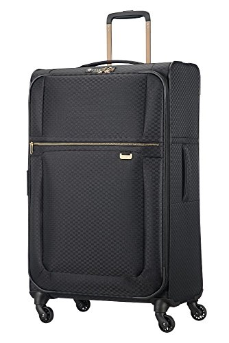 Samsonite Uplite - Spinner 78-29 Expandible 2.7 Kg Maleta, 78 cm, 122 L, Negro (Black/Gold)