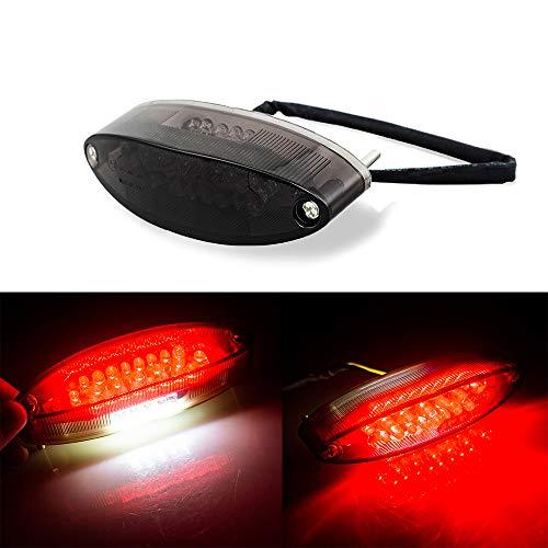 Evomosa Motorcycle Taillight Universal Brake Stop Light ATV Tail Light for Harley Honda BMW Suzuki