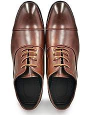 [Ziitop] ビジネスシューズ 革靴 メンズ 紳士靴 内羽根 冠婚葬祭 靴 メンズ 防滑ソール 通気 快適 (24.5cm~29.0cm)