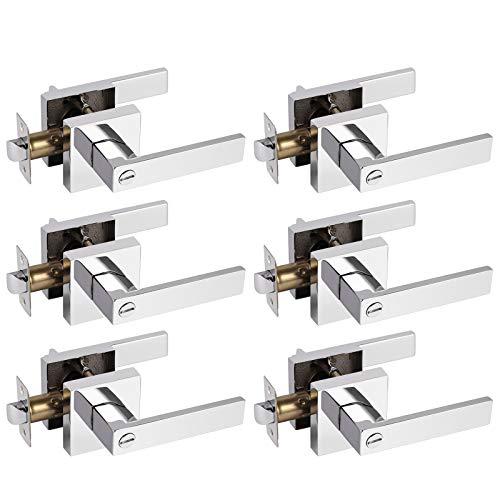 chrome bathroom door handles - 3