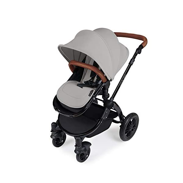 Ickle Bubba Stomp V3 2-in-1 Stroller System | Carrycot & Pushchair | Silver on Black Frame Ickle Bubba TWO-IN-ONE TRAVEL SYSTEM: Features carrycot and reversible pushchair. Pushchair suitable from 6 months to 22kgs (approx. 4 years old) – forward & rear facing option ADJUSTABLE HANDLEBAR: 5-position handlebar is comfortable for parents of varying heights. DELUXE FOAM TYRES: allows for a smooth ride, easy press and release single step foot brake locking system 3