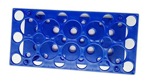 28 soportes para tubos de centrífuga de 10 ml/15 ml/50 ml (paquete de uno) (azul)
