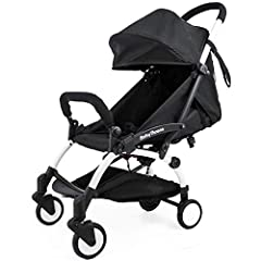 5-point safe lock with single button release; UV protection sunshade, 4 positions adjustable. Water resist, softer and more stylish;360-degree swivel front wheel, red pedal to lock back wheels Folds and unfolds within 1 second; Detachable baby foot r...