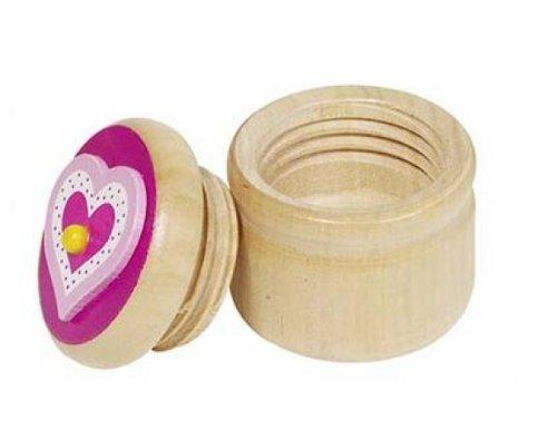 Milchzahndose rosa Herz Zahndose Holz Holzdose Zähne