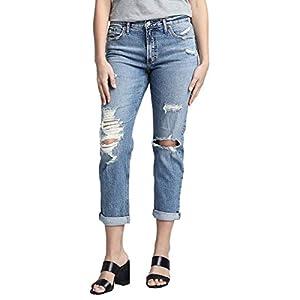 Silver Jeans Co. Women's Boyfriend's Mid Rise Jeans