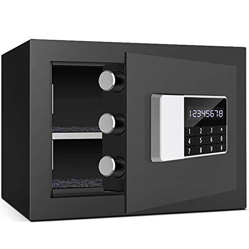 WSMLA Caja de seguridad de seguridad portátil, impermeable impermeable con cerradura de contraseña contraseña electrónica segura (Color : Black)
