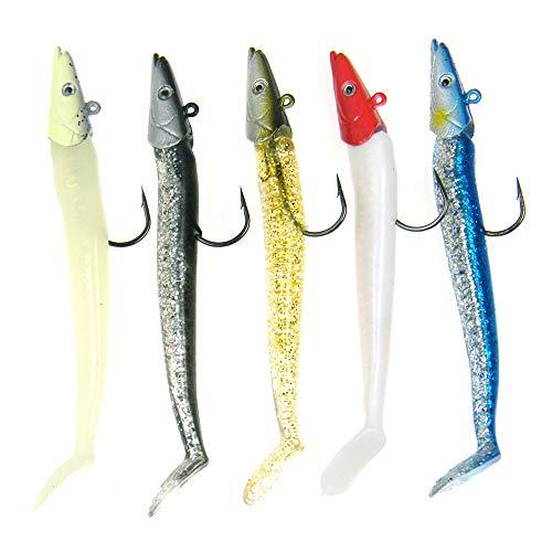 5 cebos de pesca QualyQualy para agua dulce, de 21 g y 12 cm, 5Pcs Mixed Color