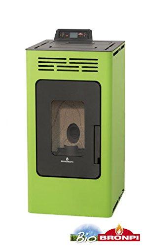 Bronpi – Estufa de pellets 8,1 KW Mod. 'Kira' color verde