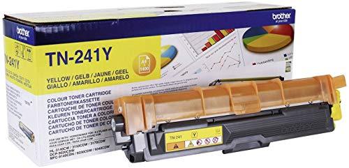 Brother TN241Y Toner Originale Capacità Standard, fino a 1400 Pagine, per Stampanti HL3140CW, HL3150CDW, HL3170CDW, DCP9020CDW, MFC9140CDN, MFC9330CDW, MFC9340CDW, Giallo