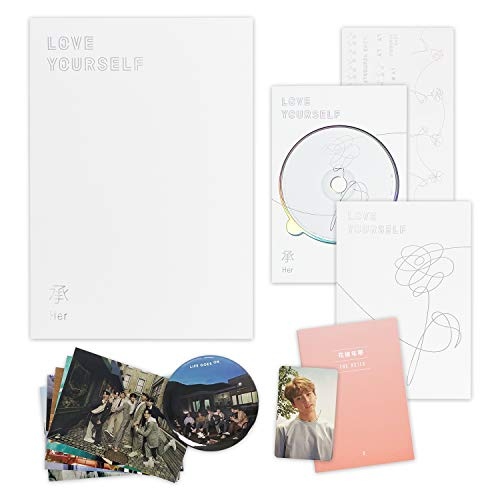 BTS 5th Mini Album - LOVE YOURSELF 轉 HER [ O ver. ] CD + Photobook + Mini Book + Photocard + Sticker Pack + FREE GIFT / K-POP Sealed