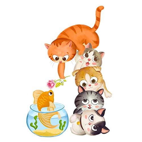 JJJee Dibujos Animados Animal Puerta Pegatinas Bienvenido Luz de Puerta Ventana Porche Dormitorio Kindergarten Etiquetas de Pared Decorativas Impermeable Pintura de Pared