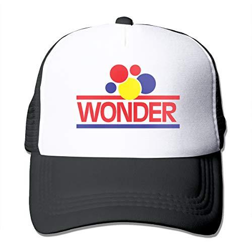 Gouzilei Men&Womans Baseball Caps Design with Wonder Bread Mesh Trucker Hat Adjustable Unisex Black