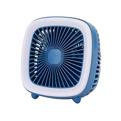 LXF JIAJU Televisión Retro Mini USB Ventilador De Carga 3 Velocidad De Enfriamiento Refrigerador De La Luz De La Noche (Color : BL)