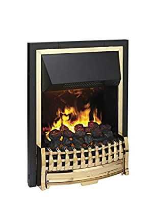 Dimplex Atherton Inset Electric Fire, Steel, 2000W