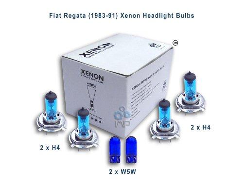 Fiat Regata (1983-91) Xenon Headlight Bulbs H4, H4, W5W