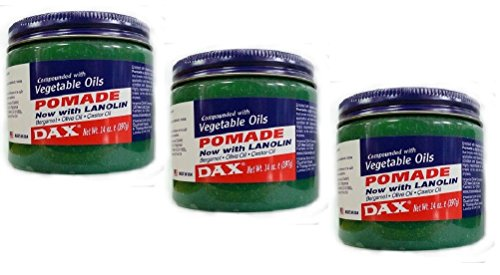 3x DAX Pomade with Vegetable Oils/ Haarpomade Original dagli USA 397 g (totale – 1191)