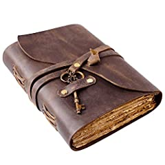 Antique Paper - Nomad Crafts Co. Vintage Journal is made of unique vintage paper which looks like it was pulled from history. You will love the old looking handmade cotton paper (240 pages) which is unique to our vintage journals. Use Any Kind Of Pen...