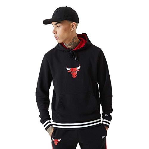 New Era NBA CHICAGO BULLS Varsity Detail Hoodie Pullover, Größe:M