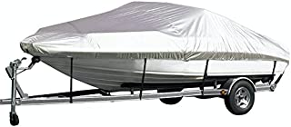 iCOVER Trailerable Boat Cover,Silver Reflective,Water Proof Heavy Duty, Fits V-Hull,Fish&Ski, Pro-Style, Fishing Boat, Runabout, Bass Boat Multiple Sizes and Colors, Silver Color, B5101