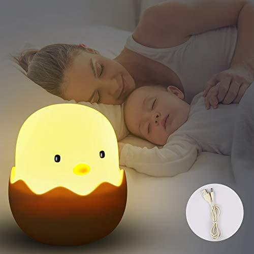 Etmury LED Nachtlicht Kinder, Nachtleuchte Baby Touch Lampe für Schlafzimmer, Nachttischlampen mit Gelbem Licht & Touch Schalter, Nachtlampe für das Lesen, Schlafen und Entspannen
