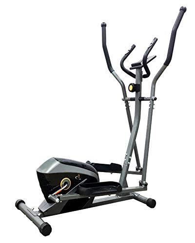 V-Fit AL-16/1E Magnetic Elliptical Trainer,Gloss Black/Gunmetal Grey