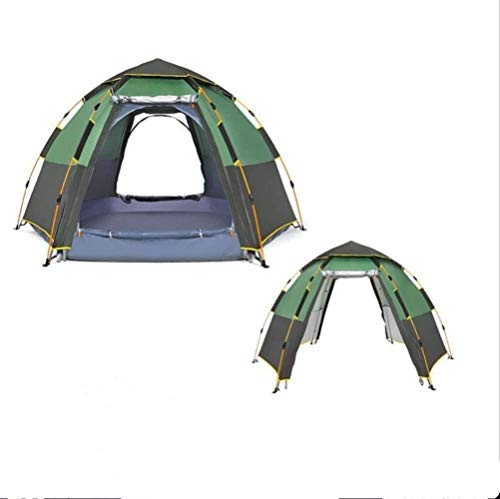 Soul hill Winter Double Layer Automatic Open Tent Quick 2-3 Person Double Layer Automatic Open Tent Large Camping Family For Outdoor Recreation Party Tents Awning Beach Tent Green