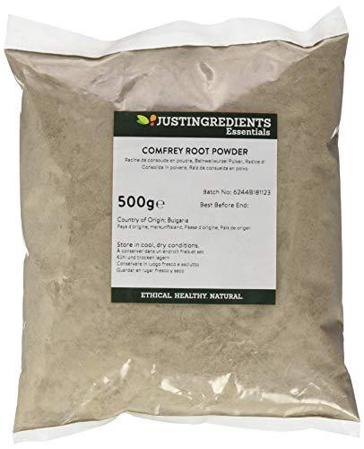JustIngredients Beinwellwurzel Pulver, Comfrey Root Powder, 1er Pack (1 x 500 g)